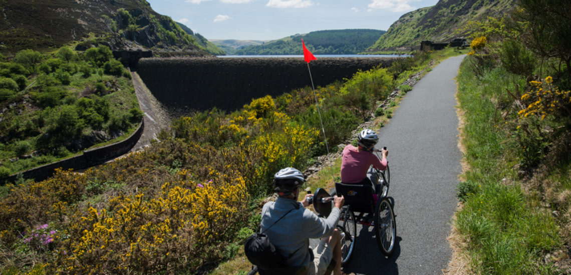 Hire a bike through Mid Wales Holiday Lets. Accessible cycles, tricycles in Rhayader and Elan Valley