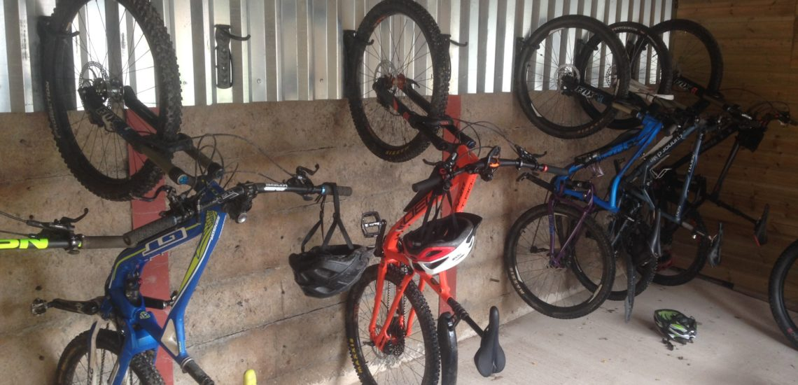 Lockable bike storage solution. Mid Wales Holiday Lets