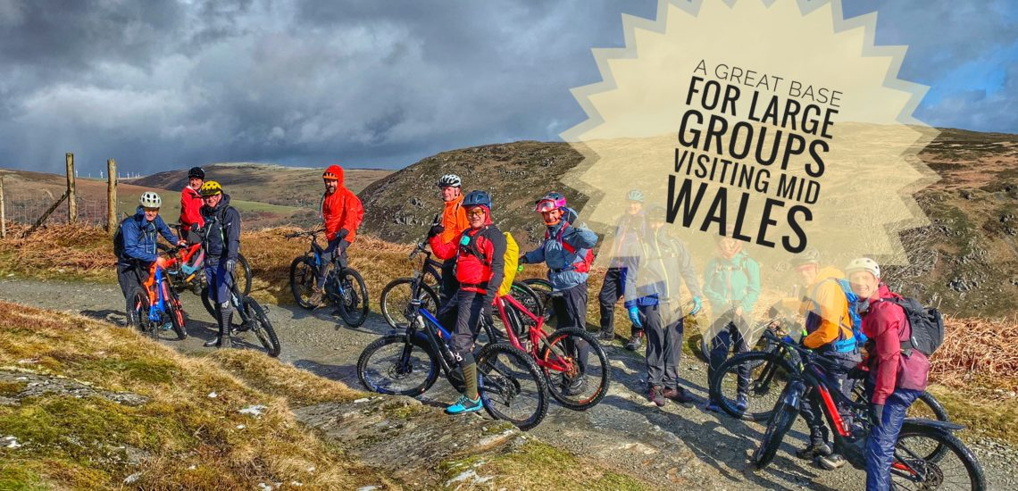 Large group stay accommodation in Rhayader Mid Wales Elan Valley ideal for Mtb breaks