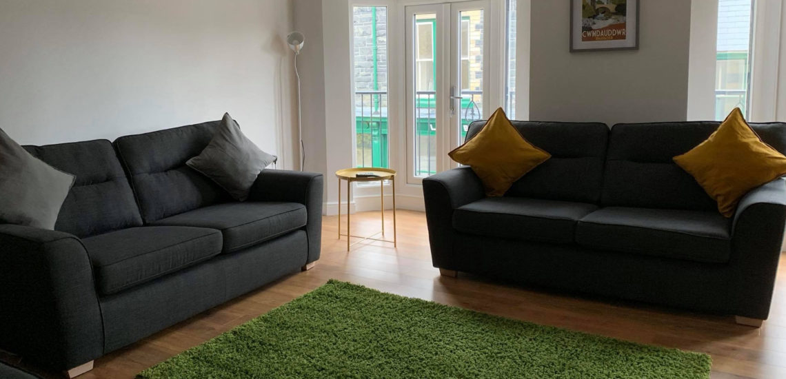Mid Wales Holiday Lets Glandwr House Living Room