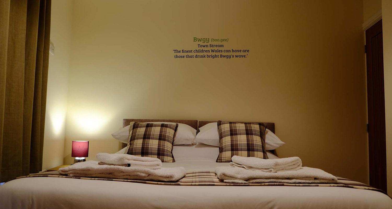 Bedroom at The Old Drapers Mid Wales Holiday Lets Rhayader Elan Valley