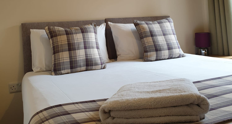 Bedroom twin or king at The Bakehouse Mid Wales Holiday Lets Rhayader Elan Valley