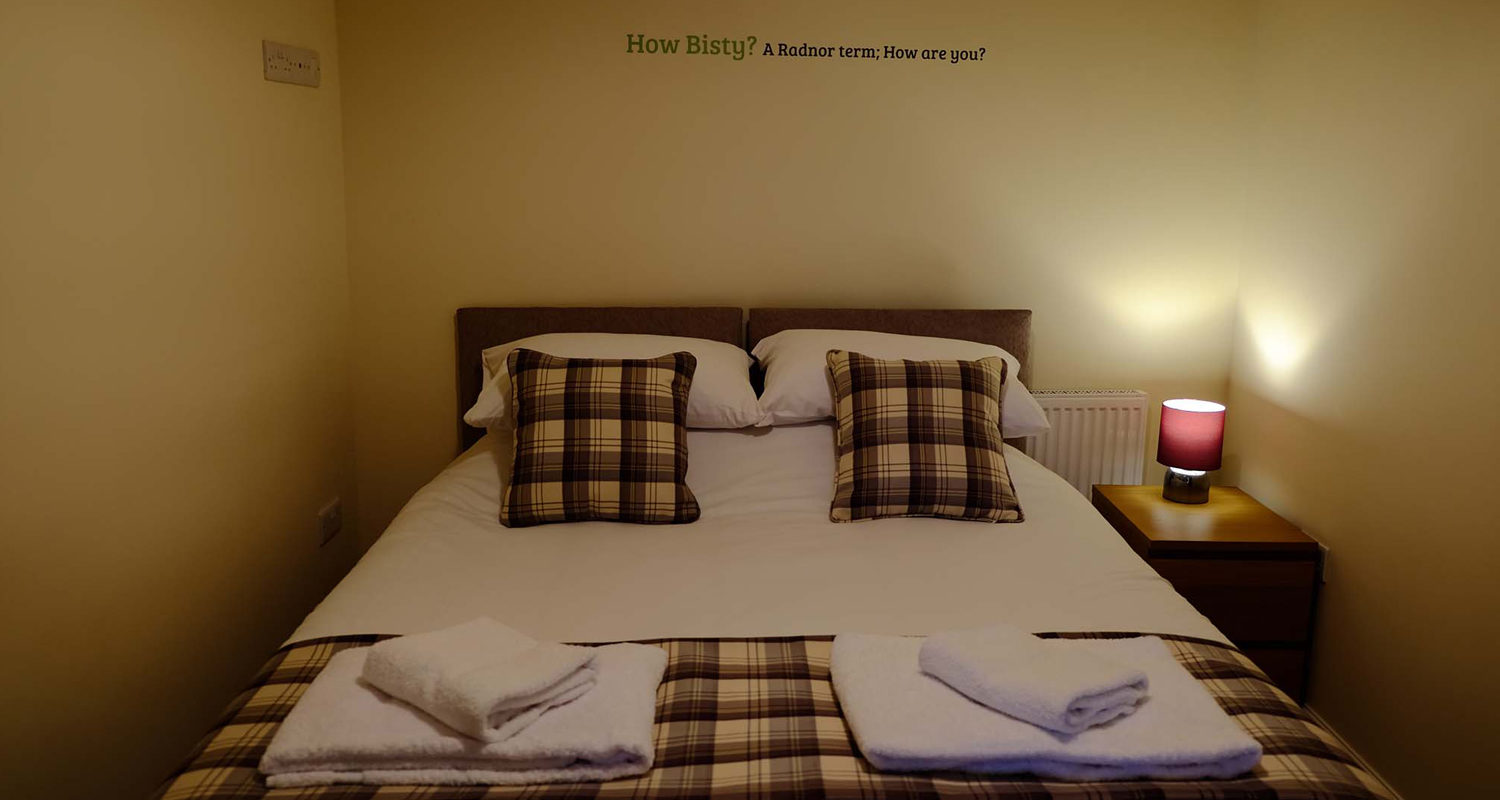 Bedroom twin or king at The Old Drapers Mid Wales Holiday Lets Rhayader Elan Valley