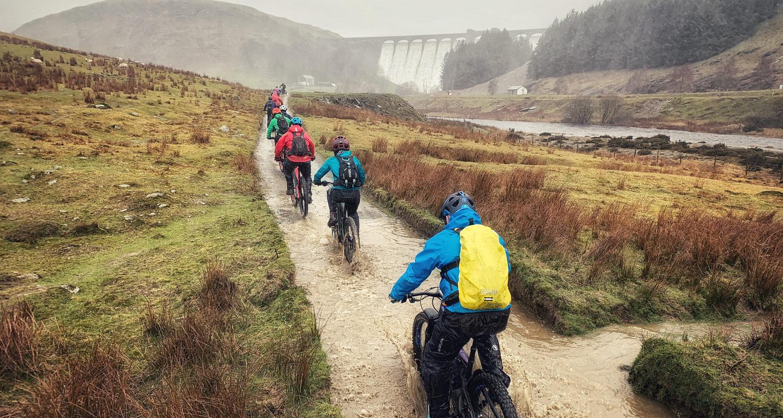 Claerwen Valley Mountain Biking Holiday at Mid Wales Holiday Lets Rhayader, Elan Valley Mtb