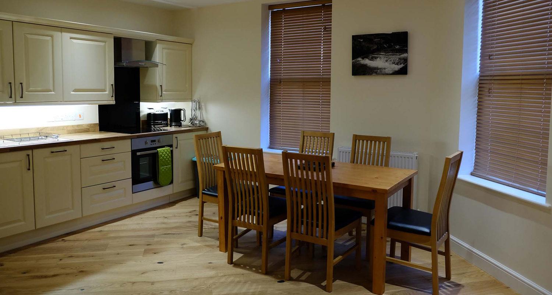 Dining room at The Bakehouse Mid Wales Holiday Lets Rhayader Elan Valley