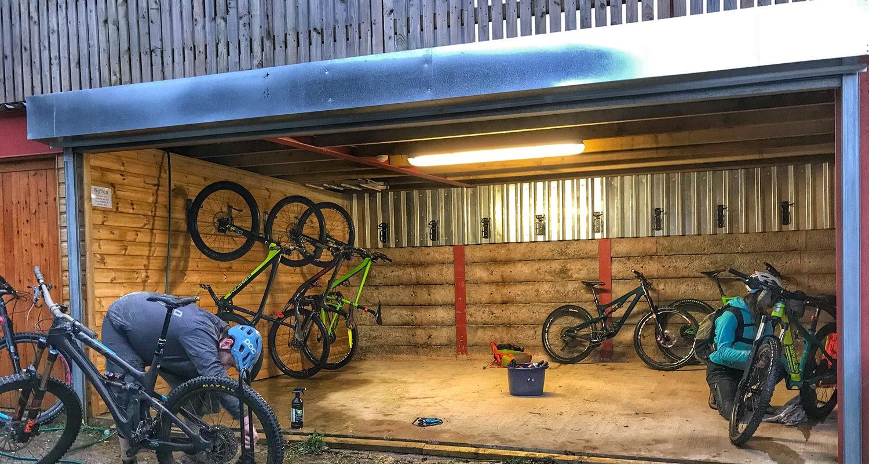 External Bike Store at Mid Wales Holiday Lets Rhayader, Elan Valley Mountainbike Mtb break