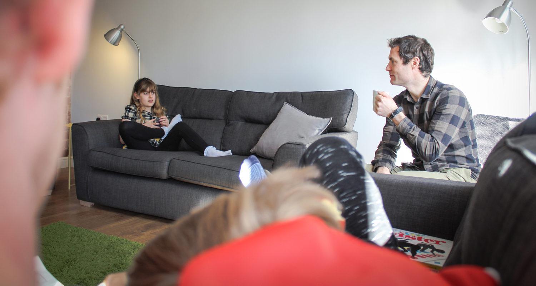 Living Room at Glandwr House Mid Wales Holiday Lets Rhayader, Elan Valley
