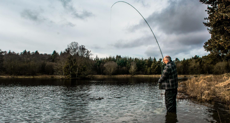 Llyngwyn Lake Fly Fishing Breaks at Mid Wales Holiday Lets Rhayader, Elan Valley Credit - fishingwalesnet
