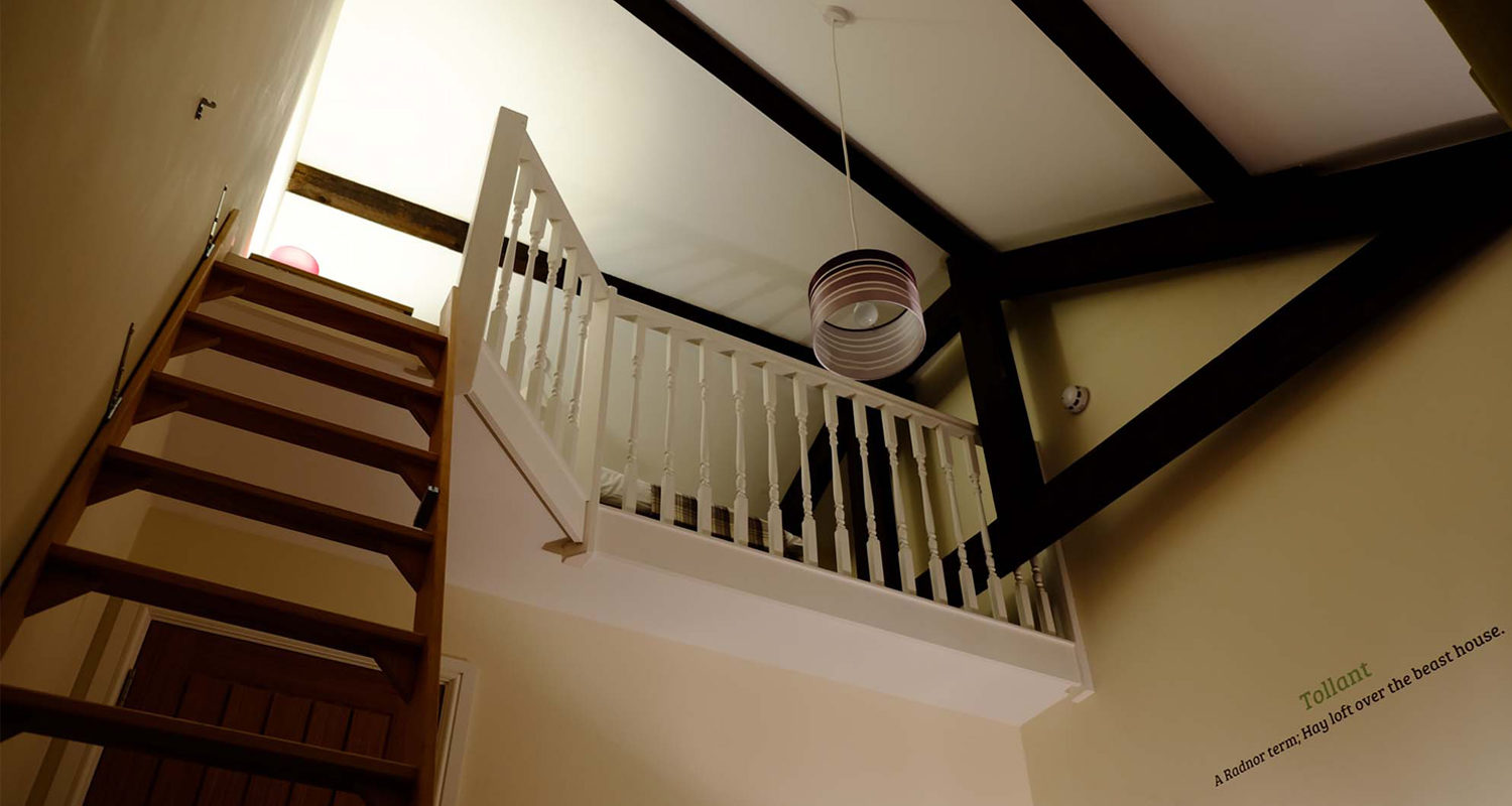 Mezzanine Bedroom twin or king at The Bakehouse Mid Wales Holiday Lets Rhayader Elan Valley