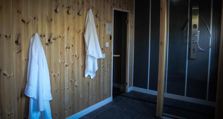 Sauna and Spa area at Glandwr House Mid Wales Holiday Lets Rhayader Elan Valley