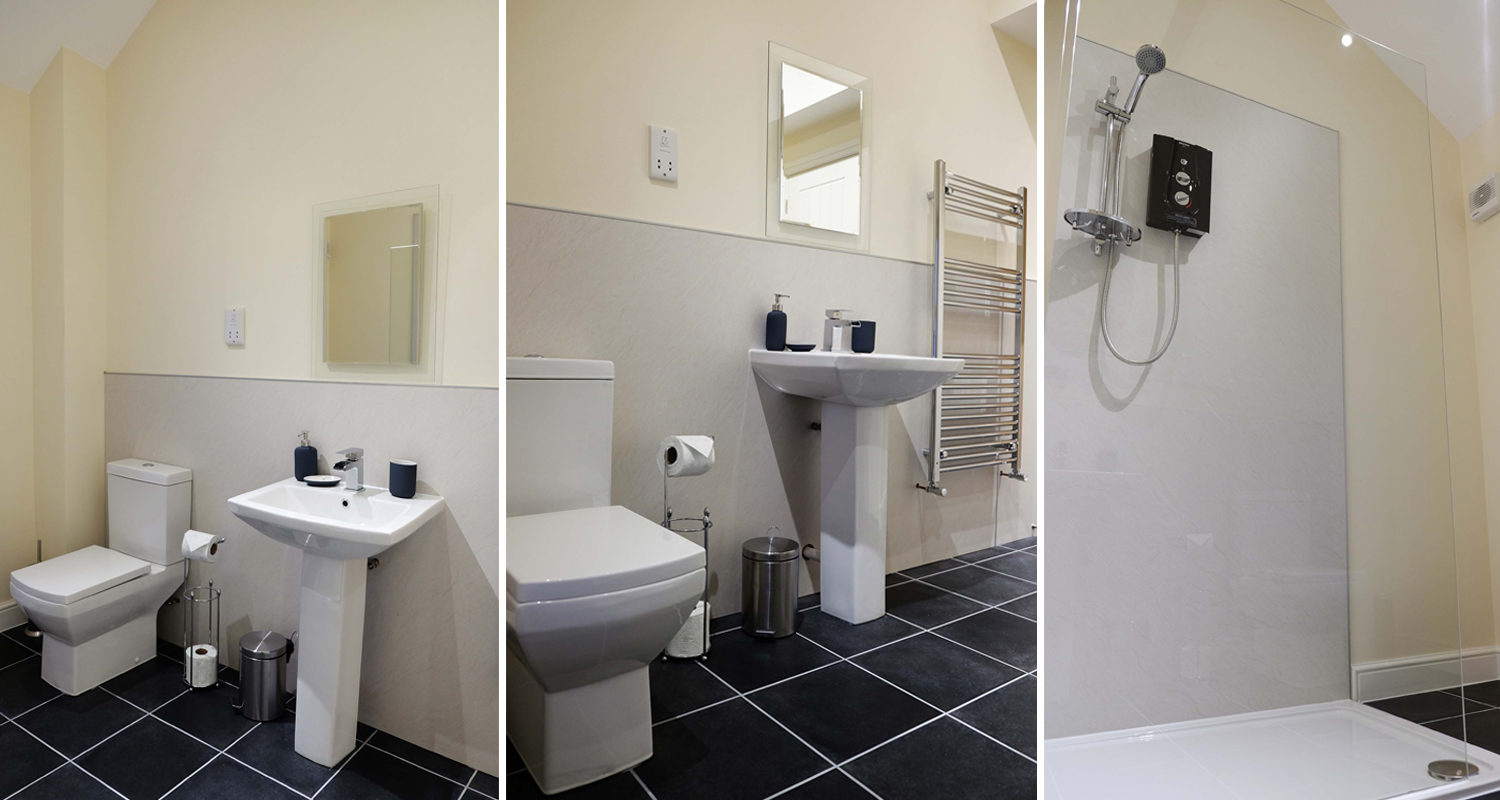 Shower Room at The Cwtch Mid Wales Holiday Lets Rhayader Elan Valley