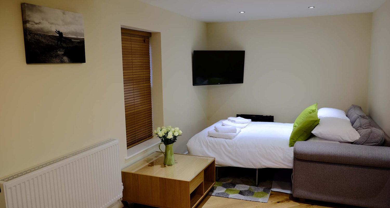 Sofa Bed at The Cwtch Mid Wales Holiday Lets Rhayader Elan Valley