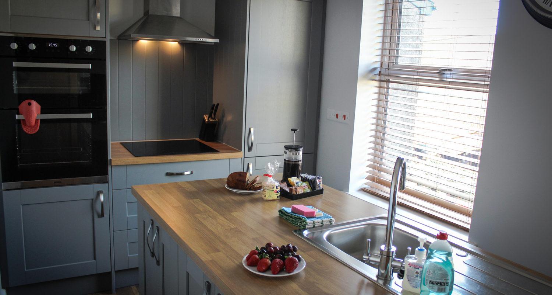 Spacious Kitchen at Glandwr House Mid Wales Holiday Lets Rhayader Elan Valley